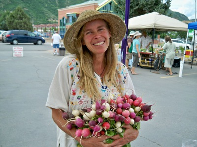 Katrina Blair at the Durango Farmer's Market